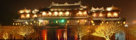 Hue Imperial City by night