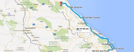 Central Vietnam Tourist Map