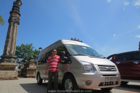 Mr Binh drives a 16 seater Ford Transit, number plate 75B-00639